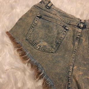 Wrangler Shorts - Extremely distressed wrangler cutoff shorts